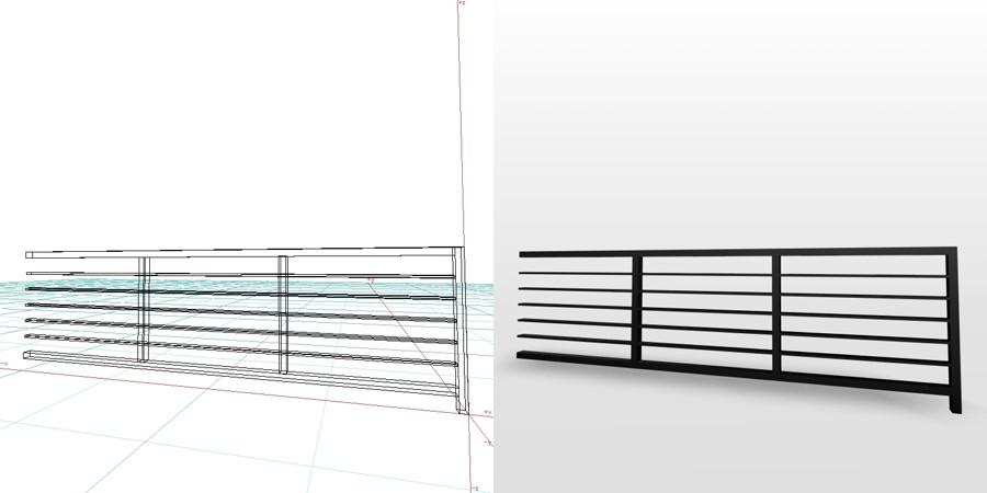 formZ 3D エクステリア フェンス 横格子 2006 アルミフェンス