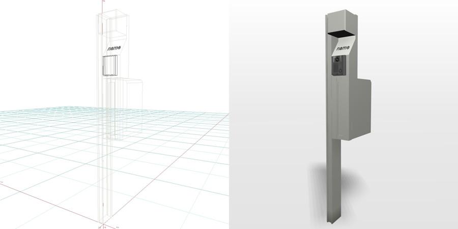 formZ 3D エクステリア 機能門柱