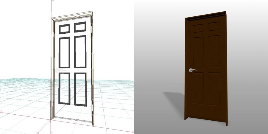 formZ 3D インテリア 建具 木製建具