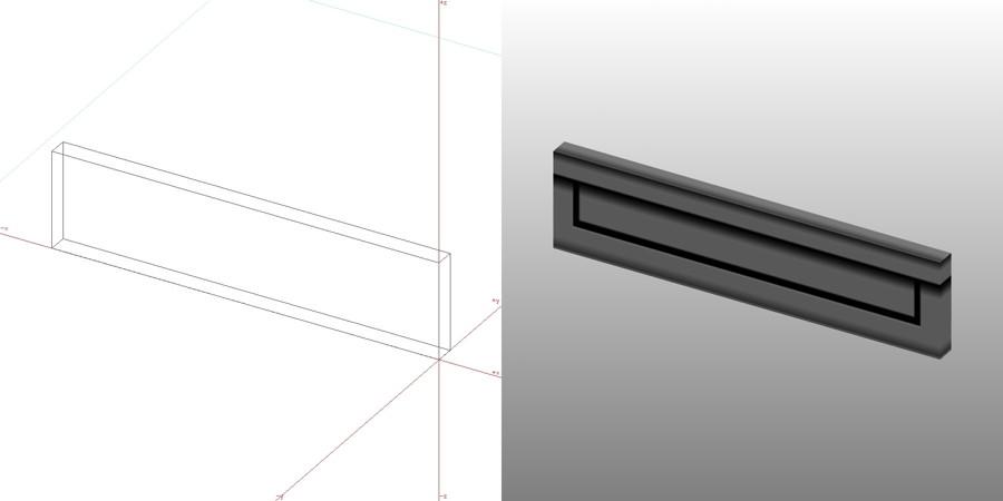 フリー素材 formZ 3D エクステリア ポスト