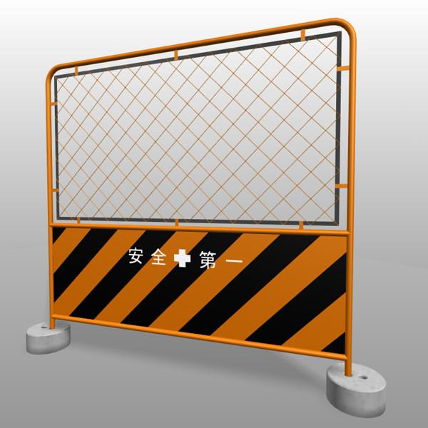 ガードフェンス トラ 金網 コンクリート石付きの3DCADデータ丨建設工事 仮設材 ガードフェンス丨無料 商用可能 フリー素材 フリーデータ丨データ形式はformZ v3.95以上です