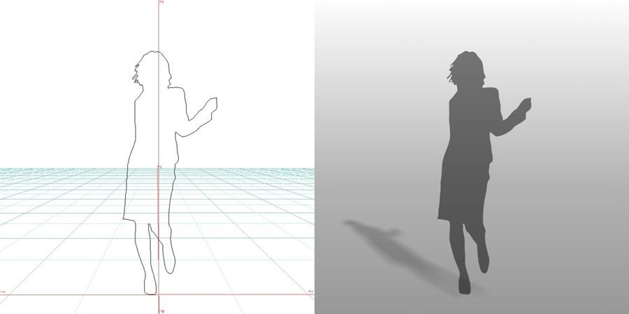 formZ 3D シルエット 女性