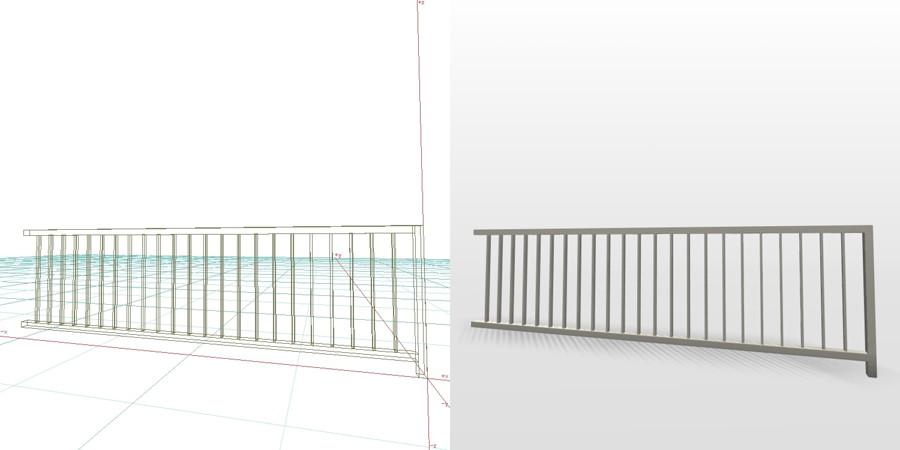 formZ 3D エクステリア フェンス 縦格子 2006 アルミフェンス