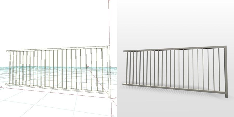 formZ 3D エクステリア フェンス 縦格子 2008 アルミフェンス