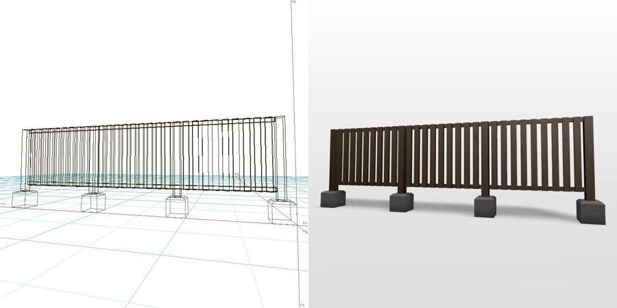 formZ 3D エクステリア フェンス 縦格子 1008 アルミフェンス ピンコロ
