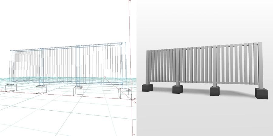 formZ 3D エクステリア フェンス 縦格子 2010 アルミフェンス ピンコロ