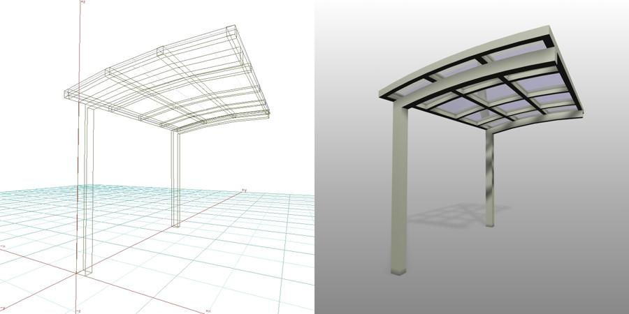 formZ  3D エクステリア 車庫廻り サイクルポート アーバングレー