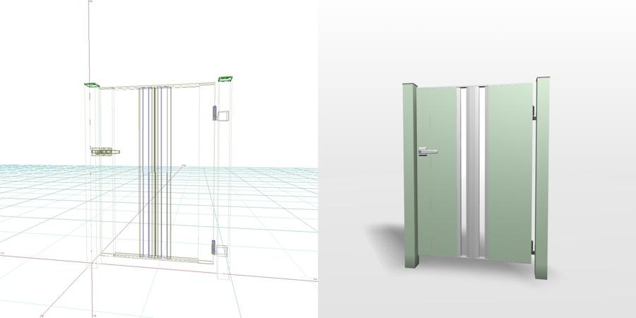formZ 3D エクステリア 門扉 片開き門扉 3d cad データ フリー
