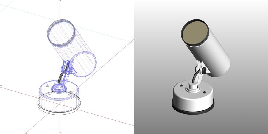 formZ 3D エクステリア 照明器具 スポットライト 【無料・商用可】3D CADデータ フリーダウンロードサイト丨digital-architex.com