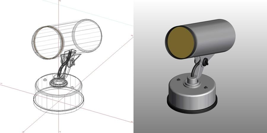 formZ 3D エクステリア 照明器具 スポットライト|【無料・商用可】3D CADデータ フリーダウンロードサイト丨digital-architex.com