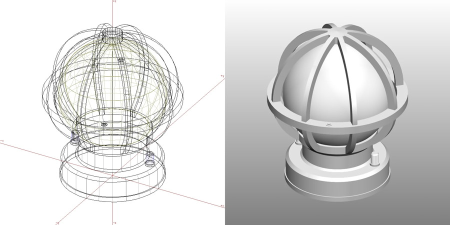 formZ 3D エクステリア 照明器具 エントランスライト