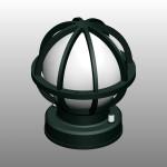 【外部照明器具】濃い緑色の門灯【formZ】 light_0024
