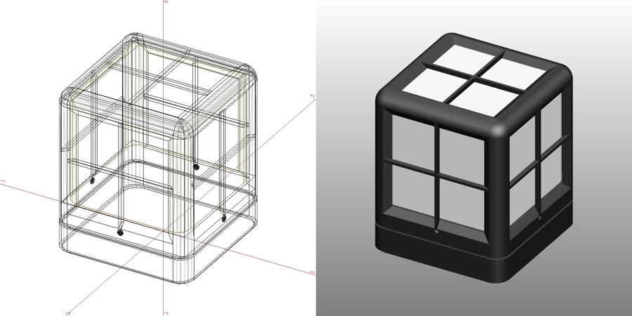 formZ 3D エクステリア 照明器具 門灯