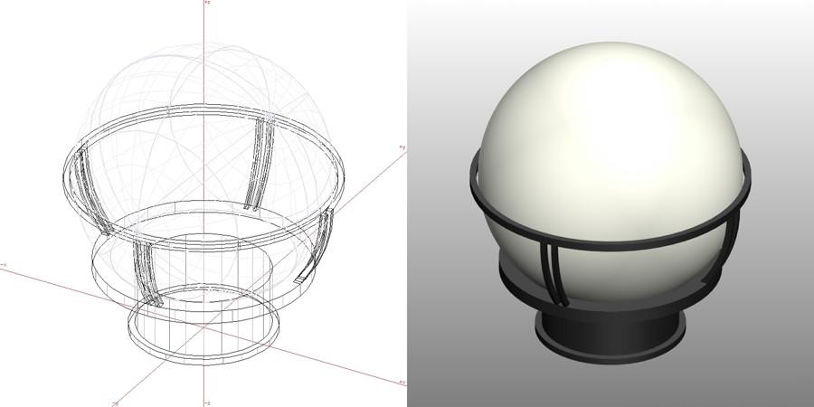 formZ 3D エクステリア 照明器具 門灯|【無料・商用可】3D CADデータ フリーダウンロードサイト丨digital-architex.com