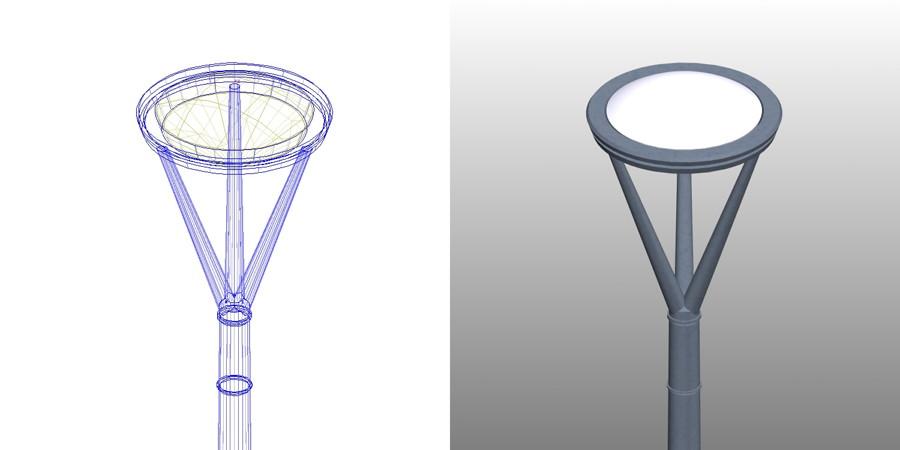 formZ 3D エクステリア 照明器具 外灯