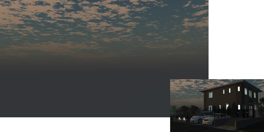 フリーデータ,2D,CG,背景画像,空,夕暮れ,雲