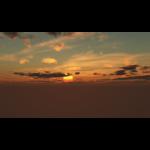 【CG】夕陽と雲の広がる空【背景画像】 sky_0004