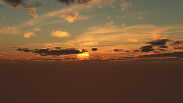 CAD,フリーデータ,2D,CG,背景画像,空,夕暮れ,雲,夕陽,夕焼け