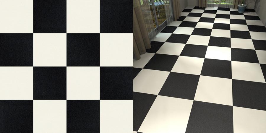 フリーデータ,2D,テクスチャー,JPEG,タイルカーペット,tile,carpet,白,white,黒,black,市松貼り