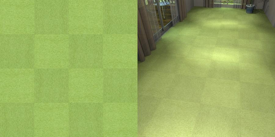 フリーデータ,2D,テクスチャー,texture,JPEG,タイルカーペット,tile,carpet,緑,green,市松貼り