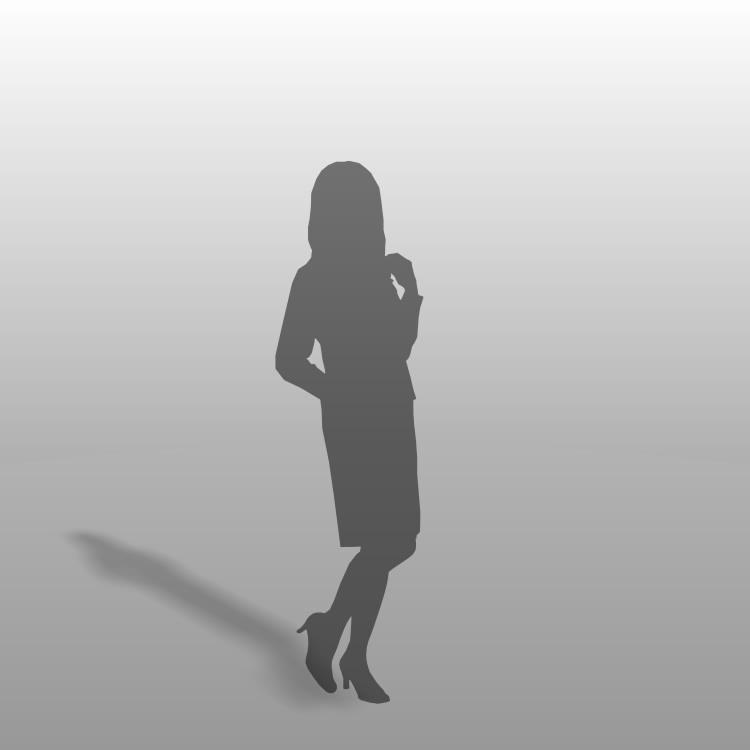 formZ 3D シルエット silhouette 女性