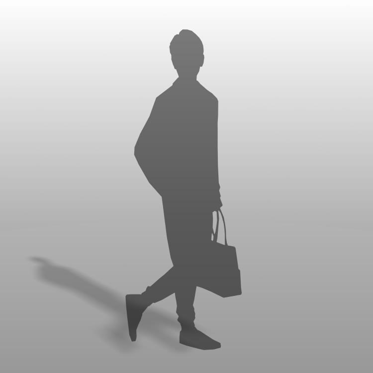 formZ 3D シルエット silhouette 男性