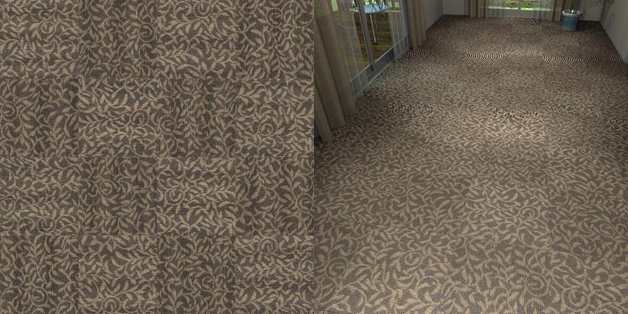 フリーデータ,2D,テクスチャー,texture,JPEG,タイルカーペット,tile,carpet,模様,植物柄,botanical pattern,茶色,brown,市松貼り