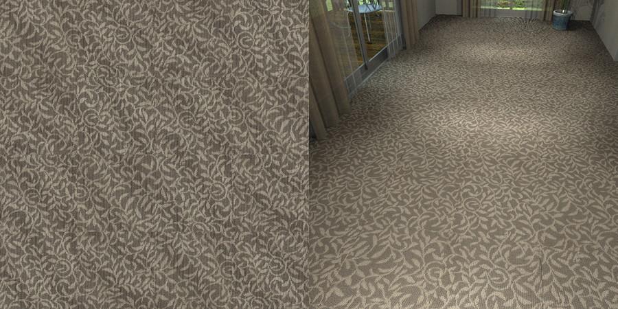 フリーデータ,2D,テクスチャー,texture,JPEG,タイルカーペット,tile,carpet,模様,植物柄,botanical pattern,灰色,gray,茶色,brown,流し貼り