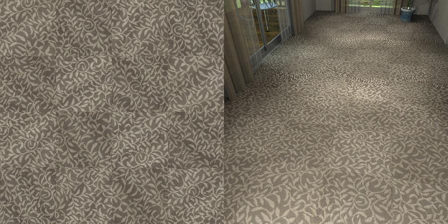 フリーデータ,2D,テクスチャー,texture,JPEG,タイルカーペット,tile,carpet,模様,植物柄,botanical pattern,灰色,gray,茶色,brown,市松貼り