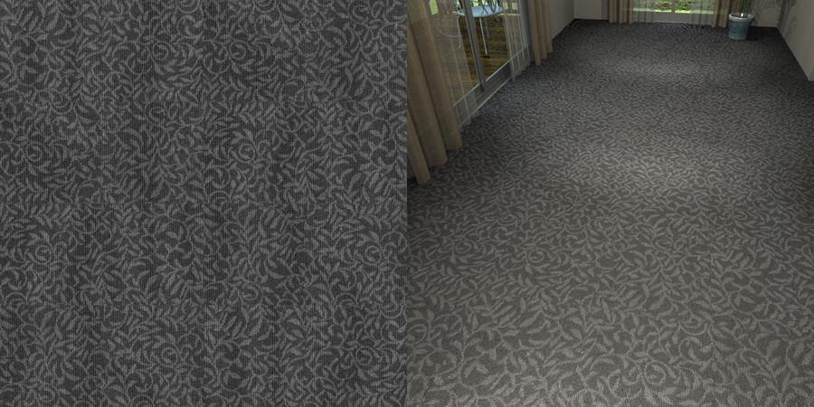 フリーデータ,2D,テクスチャー,texture,JPEG,タイルカーペット,tile,carpet,模様,植物柄,botanical pattern,灰色,gray,黒色,black,流し貼り