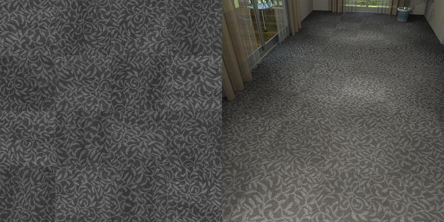 フリーデータ,2D,テクスチャー,texture,JPEG,タイルカーペット,tile,carpet,模様,植物柄,botanical pattern,灰色,gray,黒色,black,市松貼り