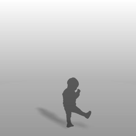 formZ 3D シルエット child 子供
