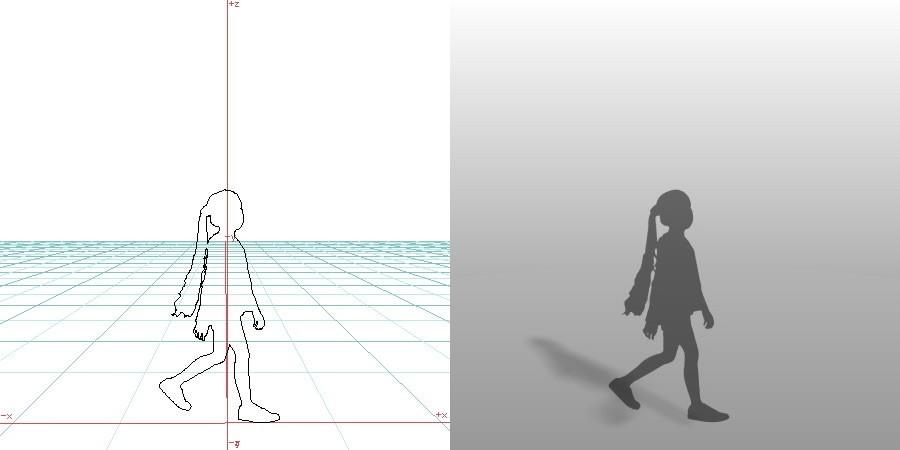 formZ 3D シルエット child 子供 歩く