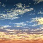 CAD,フリーデータ,2D,CG,背景画像,空,夕暮れ,雲,夕焼け,sky,clouds