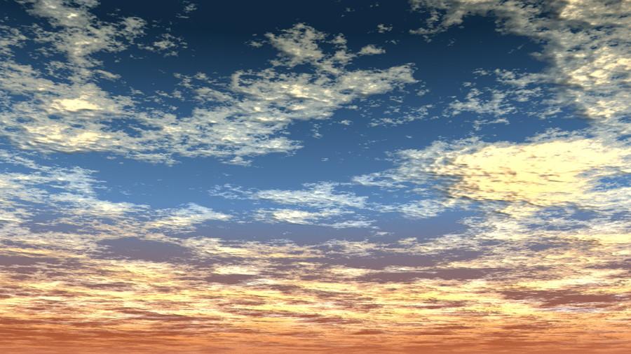 フリーデータ,2D,CG,背景画像,空,夕暮れ,雲,夕焼け,sky,clouds