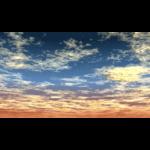 【CG】雲の広がる夕焼け空【背景画像】 sky_0009
