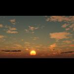 【CG】夕陽と雲の広がる空【背景画像】 sky_0010