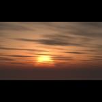 【CG】夕陽と雲の広がる空【背景画像】 sky_0012