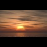 【CG】海と夕陽と 雲の広がる空【背景画像】 sky_0013