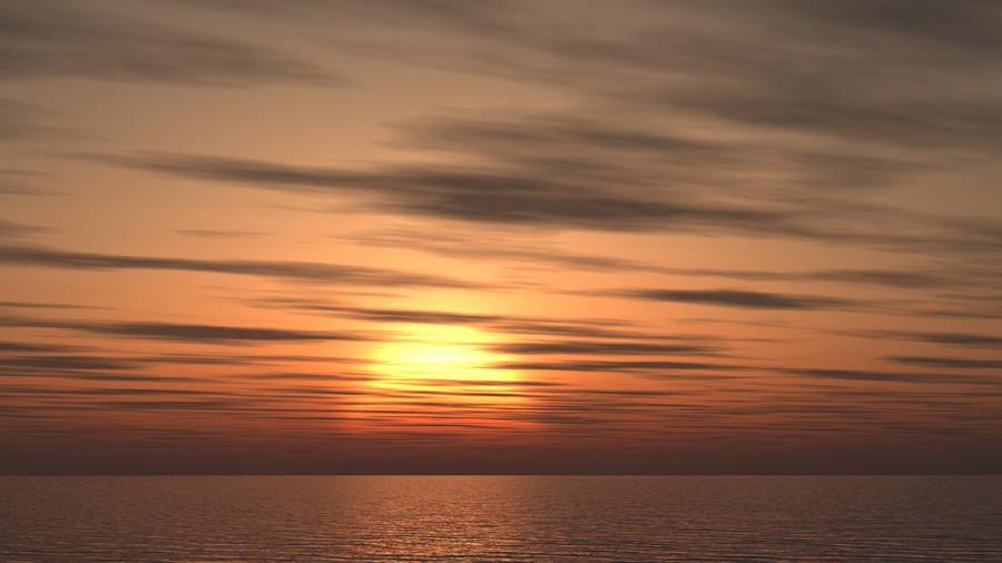 フリーデータ,2D,CG,背景画像,空,夕暮れ,雲,夕焼け,夕陽,太陽,sky,clouds,sunset,海,sea