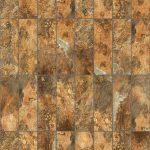 【タイル】濃淡のある茶色の石タイル (芋目地)【テクスチャー】 tile_0091