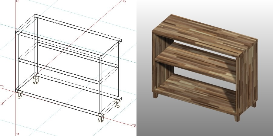formZ 3D インテリア 家具 棚 ラック interior furniture rack shelf 化粧ばり集成材