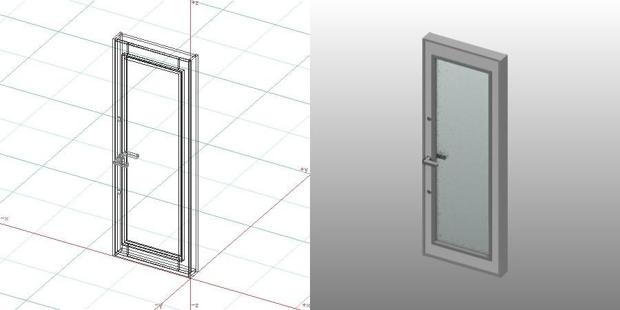 formZ 3D 建築 扉 door 勝手口ドア 0720