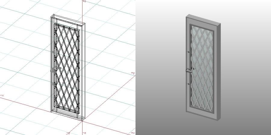 formZ 3D 建築 扉 door 勝手口ドア 0721