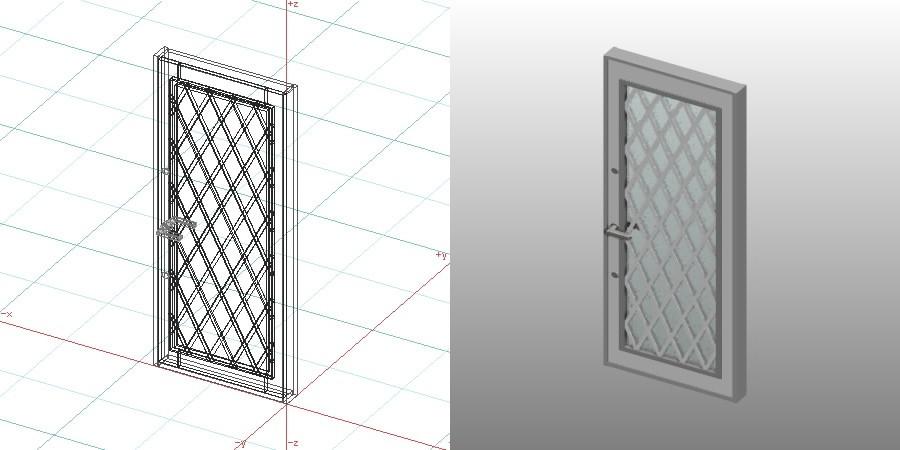 formZ 3D 建築 扉 door 勝手口ドア 0921