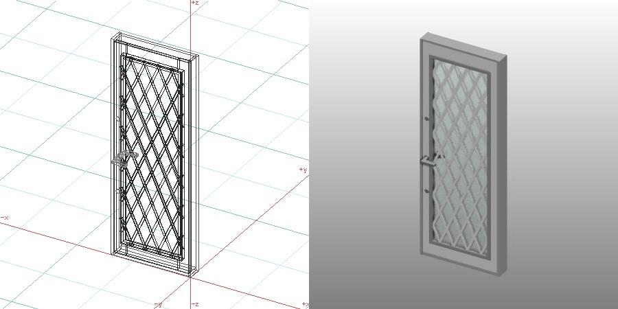 formZ 3D 建築 扉 door 勝手口ドア 0719