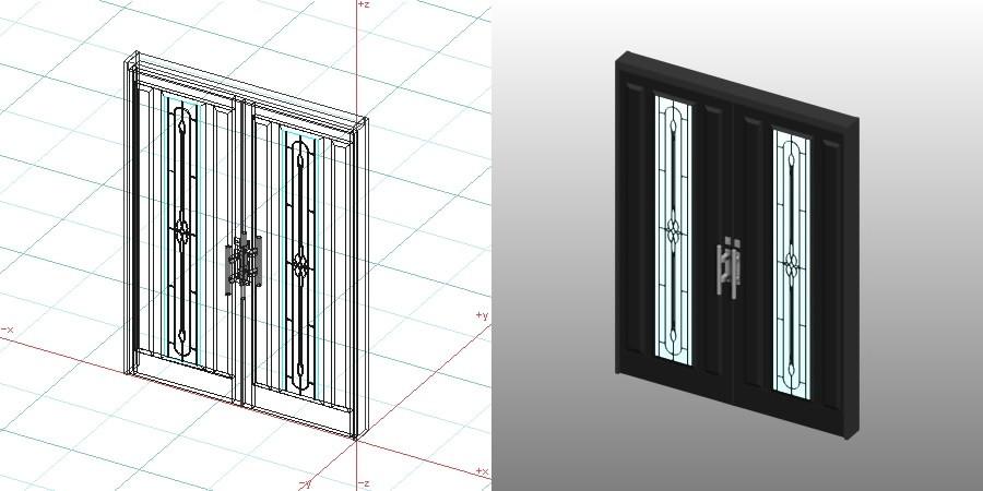 formZ 3D 建築 扉 door 玄関ドア 1622 両開き entrance
