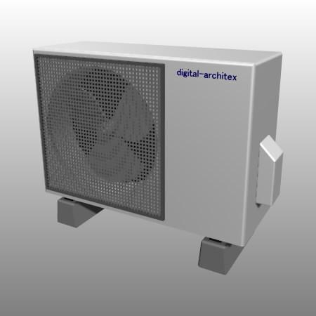formZ 3D 建築 空調 設備 エアコン 室外機 air conditioner