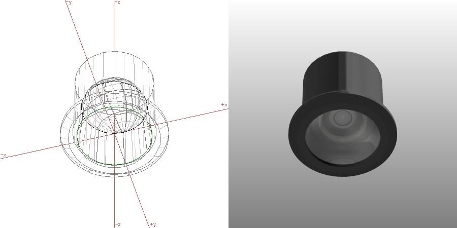 formZ 3D インテリア 照明器具 lighting equipment ダウンライト downlight