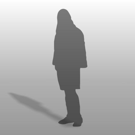 formZ 3D シルエット silhouette 男性 man パーカー フード ハーフパンツ